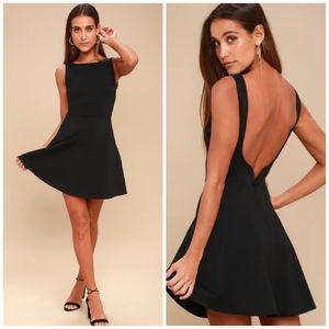 Lulu's🌿Special Kind Of Love Backless Skater Dress